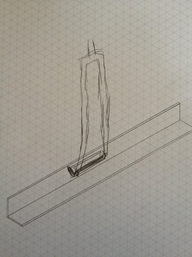 Sketch of the rack