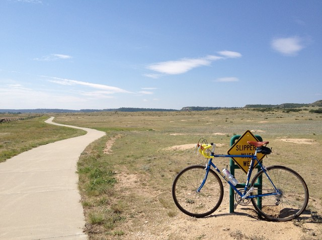 Photo of my bike south of castle rock