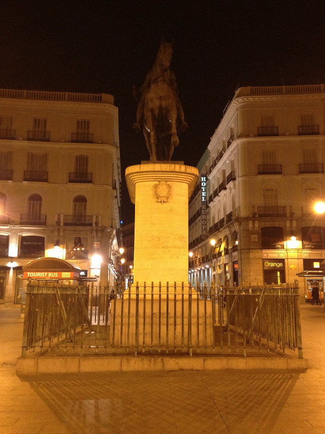 Statue in central Madrid