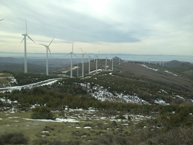 An old wind farm above pamplona