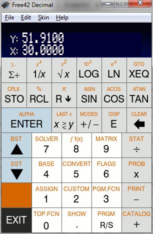 Free42 Simple Modern