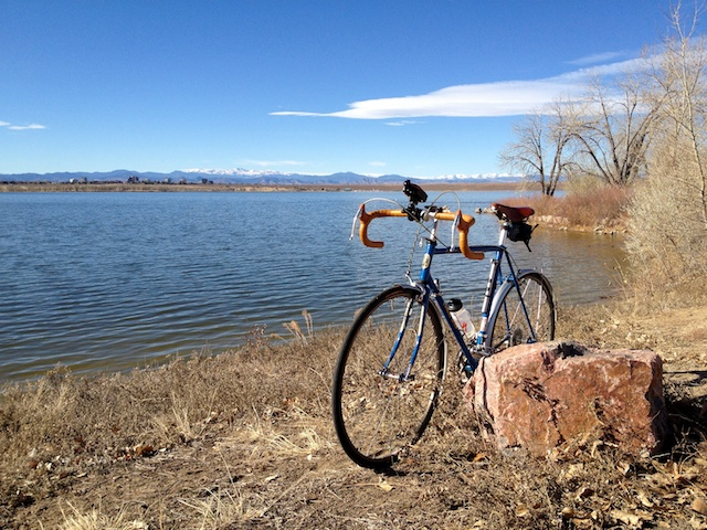 Bicycle in front of the lake