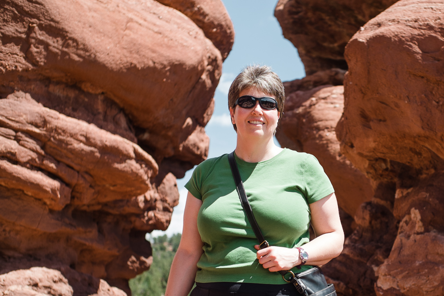 Suzy at Garden of the Gods